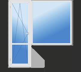 Балконный блок (большой) класса эконом +
