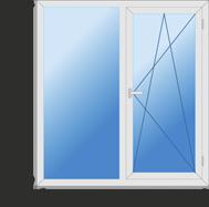 Окно двустворчатое класса эконом